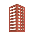 red building line sticker image vector image vector image