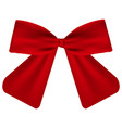 red gift bow of ribbon vector image vector image