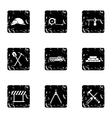 Repair icons set grunge style vector image vector image