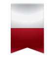 Ribbon banner - maltese flag vector image vector image
