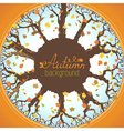 Round autumn background vector image vector image
