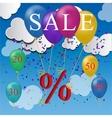 sale balloon discount concept vector image vector image