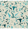 Seamless pattern with seagull silhouettes vector image vector image