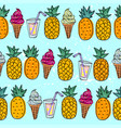 seamless summer pattern with bright orange vector image