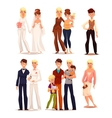 set of people with different sexual orientations vector image