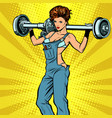 sexy female car mechanic and rear axle vehicle vector image vector image