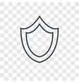 shield concept linear icon isolated on vector image
