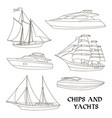 ships and yachts set vector image vector image