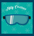 ski glasses object to play in the ice vector image