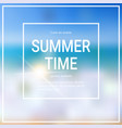summer time blurred sea bokeh beach background vector image vector image
