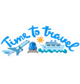 travel and journey banner vector image
