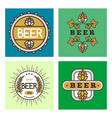 vintage craft beer retro logo badge design emblems vector image vector image