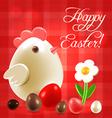 Warm Easter greetings postcard vector image vector image