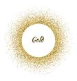 white circle frame on gold glitter vector image vector image