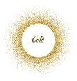 white circle frame on the gold glitter vector image vector image