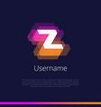 z-monogram-logo vector image vector image