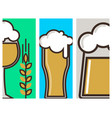 beer glass banner celebration refreshment vector image