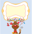 Funny reindeer with christmas lights vector image