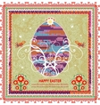 Retro Easter background In Folk Style vector image