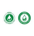 100 percent vegetable fat icon food package seal vector image vector image