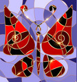abstract background red butterfly vector image vector image