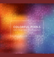 abstract colorful square pixels background vector image vector image