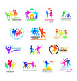 abstract people icon person sign on logo of vector image vector image