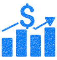 business chart grunge icon vector image vector image