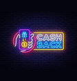 cash back sign design template smartphone vector image