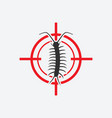 centipede icon red target insect pest control vector image vector image