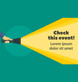 check this event concept banner flat style vector image