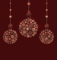 Christmas Balls Made of Snowflakes for Winter vector image vector image