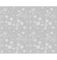 Christmas snowfall on the background of grey sky vector image vector image