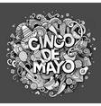 Cinco de Mayo Cartoon hand drawn Doodle vector image vector image