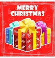 collection greeting card with Merry Christmas vector image vector image