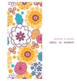 colorful oriental flowers vertical frame vector image