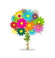 colorful spring bunch of flowers isolated on vector image vector image