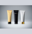 cosmetic packaging design vector image vector image
