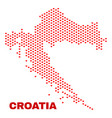 croatia map - mosaic of lovely hearts vector image vector image