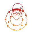 crown with cute santa claus character vector image