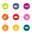 cut icons set flat style vector image vector image