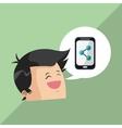 Digital marketing design smartphone icon vector image vector image