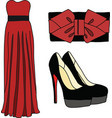 Elegant dresses for girl vector image vector image