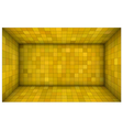 empty futuristic room with yellow mosaic walls vector image vector image