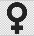 female sex symbol icon in flat style women gender vector image