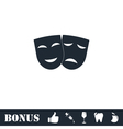 Festive masks icon flat vector image vector image