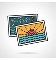 Flat style icon for vacations memories vector image vector image