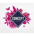 frame floral concept pink vector image vector image
