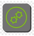 Gears Rounded Square Button vector image vector image