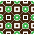 Geometric seamless pattern with rings and squares vector image